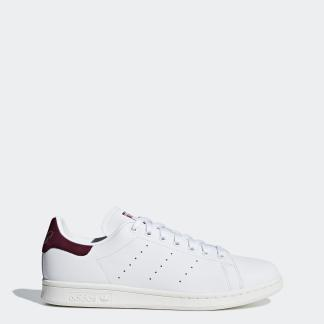 STAN SMITH SHOES - FTWWHT/FTWWHT/MAROON