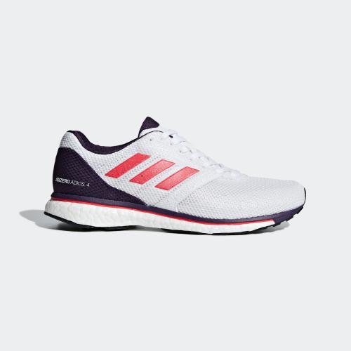 ADIZERO ADIOS 4 W RUNNING SHOES - WHITE