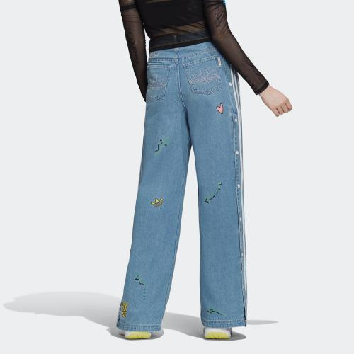 DENIM TRACK PANTS - CLESKY | WOMEN